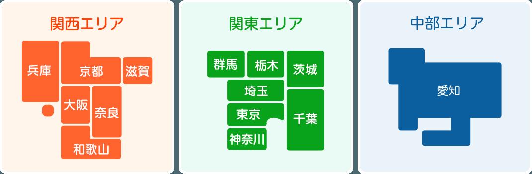 関西エリア・関東エリア